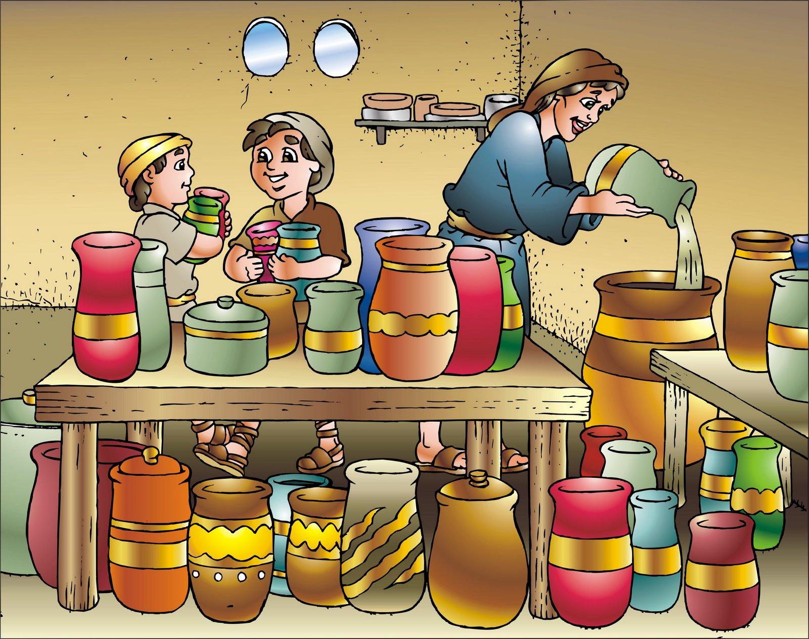Eliseu aumenta o azeite da viúva