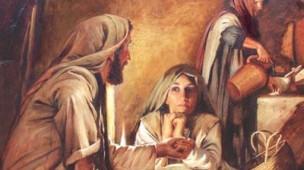 Jesus na casa de Marta e Maria