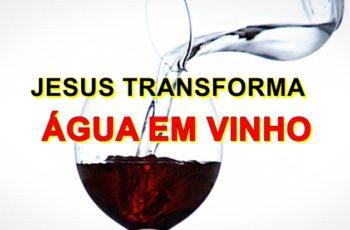 Jesus transforma água em vinho